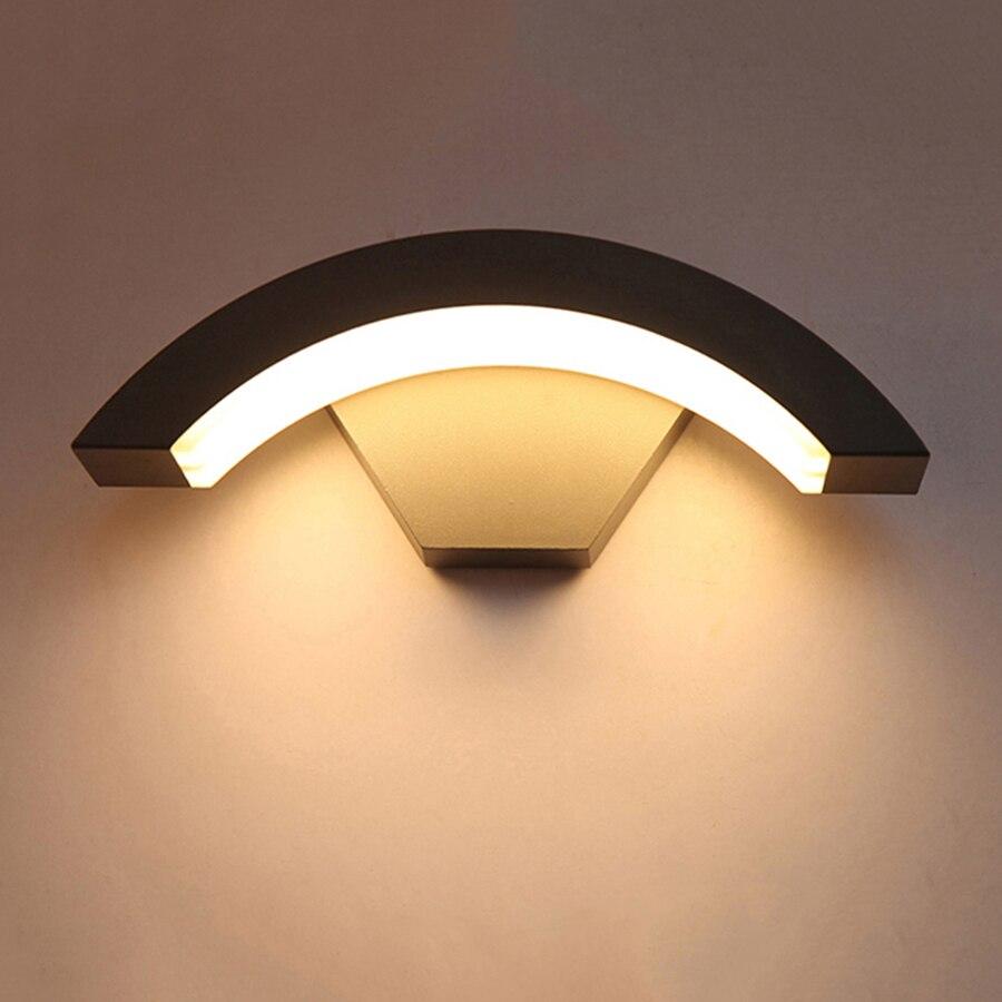 BEIAIDI 12W Outdoor Led Wall Lamp With Motion Sensor Waterproof Garden Porch Light Villa Hotel Balcony