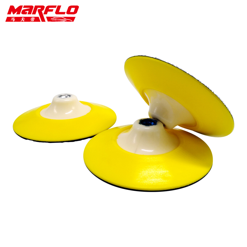 Marflo Car Wash Plate Backing Pad with Polishing Sponge Pad 6 Thread M14 M16 5/8-11 Flexible Polishing Pad 3pcs cleaning sponge polishing pad plate backing pad car wash and care tools 1 2 2 3 m14 mar drop ship