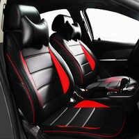 (Frontal + trasero) universal cubiertas de asiento de coche para Mazda 3 6 2 C5 CX-5 CX7 323 626 M2 M3 M6 Axela Familia Coche accesorios para el coche accesorios de estilo
