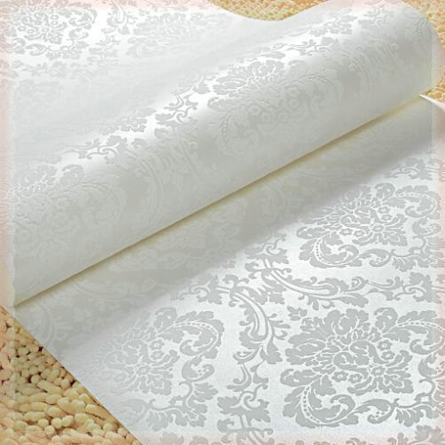 Or / Beige / blanc damassé paillettes métalliques revêtements