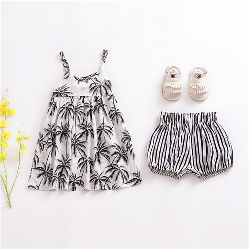2018 New Baby Girl Dresses Toddler Child Strapless Summer Party 2018 Little Kid Floral Clothes 2-6 Years Casual Travel Dress JSX