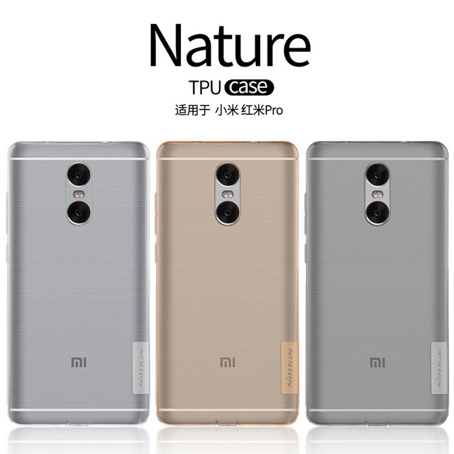 san francisco c36f5 a30d3 US $6.19  XiaoMi redmi pro case NILLKIN Nature TPU Ultra Thin Transparent  Soft Back cover TPU case For XiaoMi redmi pro 5.5inch-in Fitted Cases from  ...