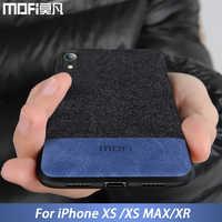 MOFi originale per il caso di iphone XS della copertura di caso per il iphone XR tessuto custodia protettiva in silicone coque capas per il iphone XS Max caso