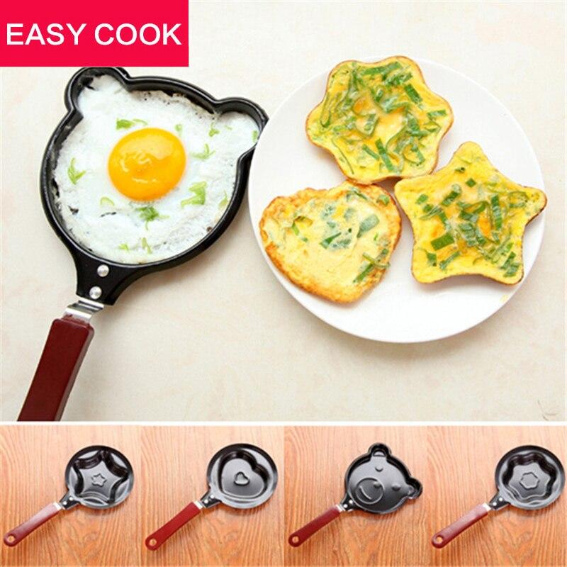 1X Egg Frying Pancakes Kitchen Pan with Stick Housewares Mini Pot DIY 5 Types Can Choose Free Shipping