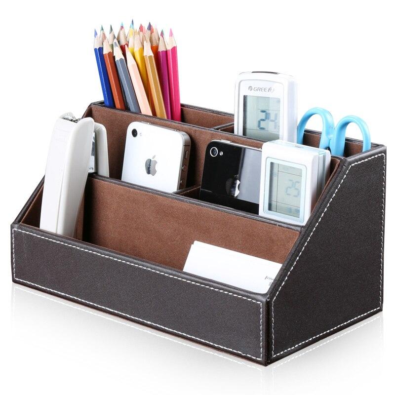 Kingfom organiseur de bureau Set porte-stylo avec Business porte-carte mémo boîte papier Notes tapis de souris papeterie organisateur - 2