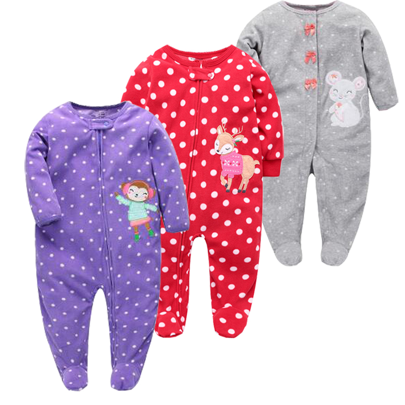 2018 hot sale baby girls jumpsuits, one pieces boys rompers Pajamas fleece cute cartoon kids clothes with purple monkey clothes cotton baby rompers set newborn clothes baby clothing boys girls cartoon jumpsuits long sleeve overalls coveralls autumn winter