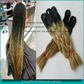 "10Packs 100g/pc 24"" Black&Golden Blonde Ombre Kanekalon Braiding Hair Synthetic Two Tone Kanekalon Jumbo Braid Hair Extensions"