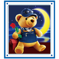 DIY Diamond Embroidery Cartoon Animal Bear 5D Diamond Painting Cross Stitch 3D Diamond Mosaic Needlework Crafts