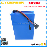 2000W 48V battery pack 48V 24AH 23.2AH lithium battery 48V ebike battery with 50A BMS use 29E 2900mah cell 2A Charger