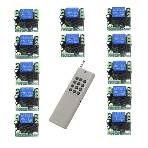 MITI-RF DC 12V 10A 1 Channel 12 Relay Wireless Learning Code Remote Control Switch 1000M White Transmitter SKU: 5461 ifree fc 368m 3 channel digital control switch white grey