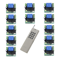 MITI RF DC 12V 10A 1 Channel 12 Relay Wireless Learning Code Remote Control Switch 1000M White Transmitter SKU: 5461