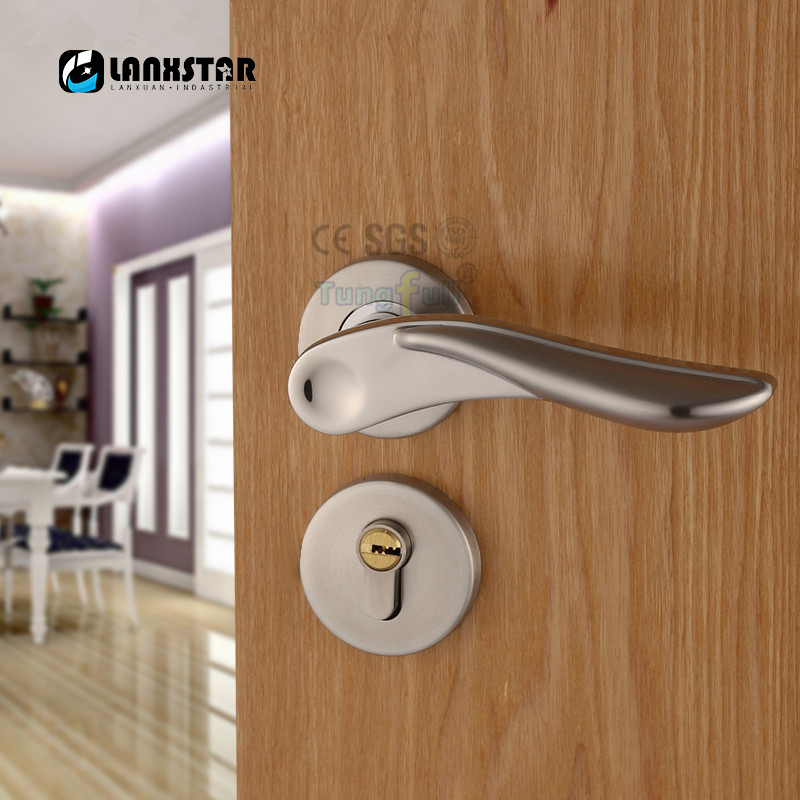 House Interior Door Handle Lock Anti theft Door Lock Mute Locker ...