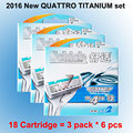 18 cartridges/lot 2016 New Original Package Genuine Quattro Titanium comfortable replacement Manual razor blade man male