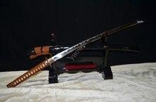 Japanese Samurai Sword KATANA Full Tang 1095 High Carbon Steel Oil Quenched Sharp Blade- High quality tsuba can cut bamboo tree