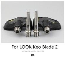 цена на STAN TI Mtb Pedal Axle Titanium Pedal Shaft For LOOK KEO Blade 2 SPD Pedal
