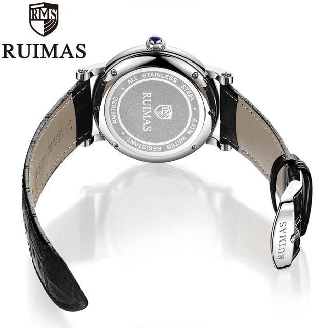 Ruimas reloj hombre Leather Strap