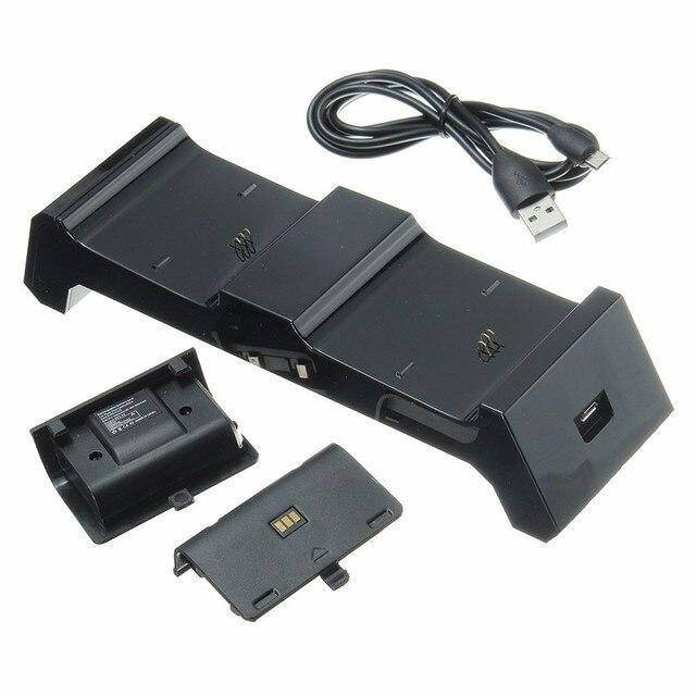 3 в 1 Двойной Зарядное Устройство Зарядка для Док-Станции + 2 Батареи + USB кабель Для Xbox One С Для Xbox One Для Xbox One Elite контроллеры