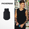 PROVERGOD Wholesale New Summer Mens Solid Tank Top Hip Hop Man Sleeveless Vest Fashion Singlet Tees 6 Colors S-3XL