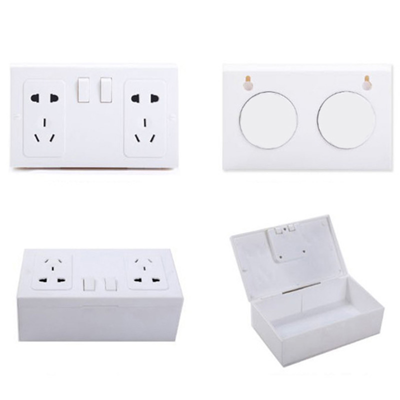 Convenient Family Creative Accessories Fake Secret Wall Plug Socket Security Safe Money Jewel Box Hides Valuables JY