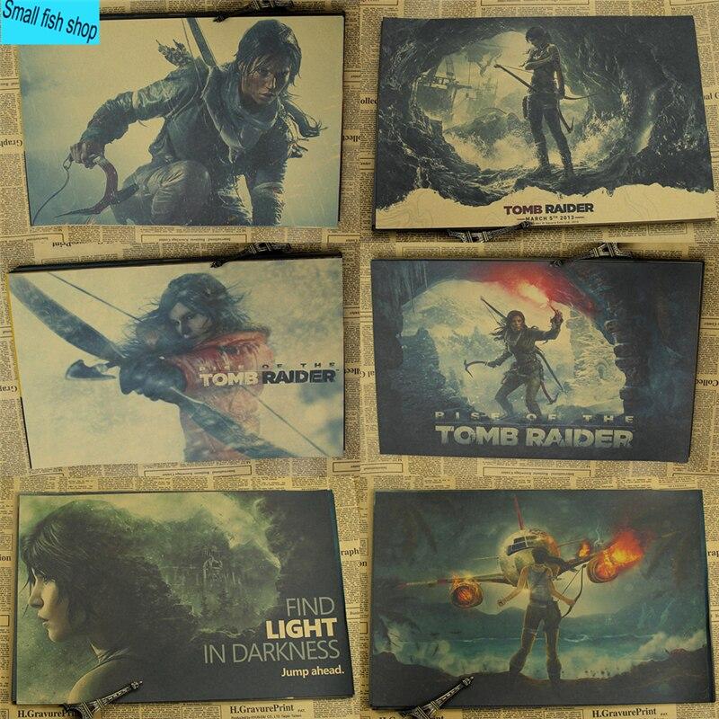 Romb Of Tomb Raider Lara Játék poszter Home Lakberendezési dekoráció Kraft Játék Poszter Rajzmag Fal Falmatricák