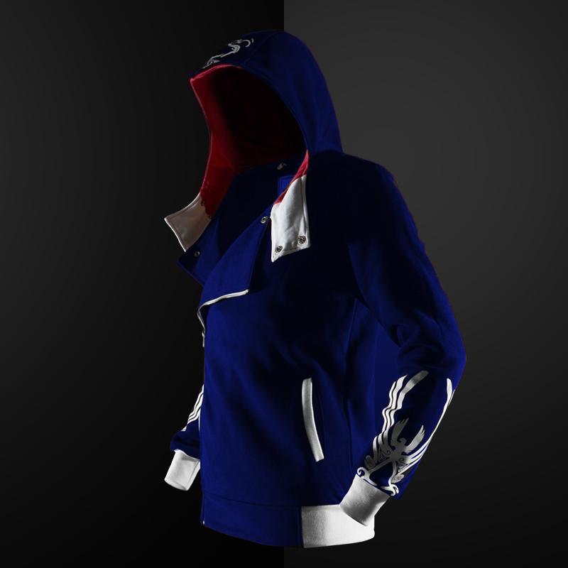 new 5 colors Assassin hoodie unisex zipper jacket Street fashion print hoodie Assassin hoodie for boys Plus size S- 4