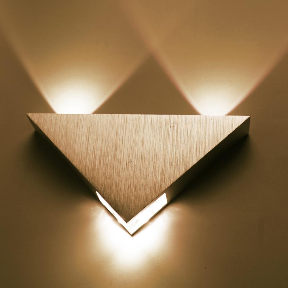 AC85-265V Moderní hliníkový trojúhelník 3W led nástěnná svítidla Pro barovou chodbu KTV Domácí osvětlení vnitřní a venkovní dekorace světla IQ