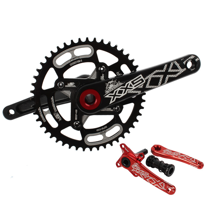 цена на Bicycle Crank Chainwheel 104BCD 170mm MTB Mountain Bike Crankset 44T 46T 48T 50T 52T 7075 CNC Narrow Wide Chainring Big Plate