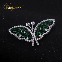 2015 New Butterfly Brooch Scarf Pin In White Gold Plated Fashion Wedding Brooches For Wedding Jewelry