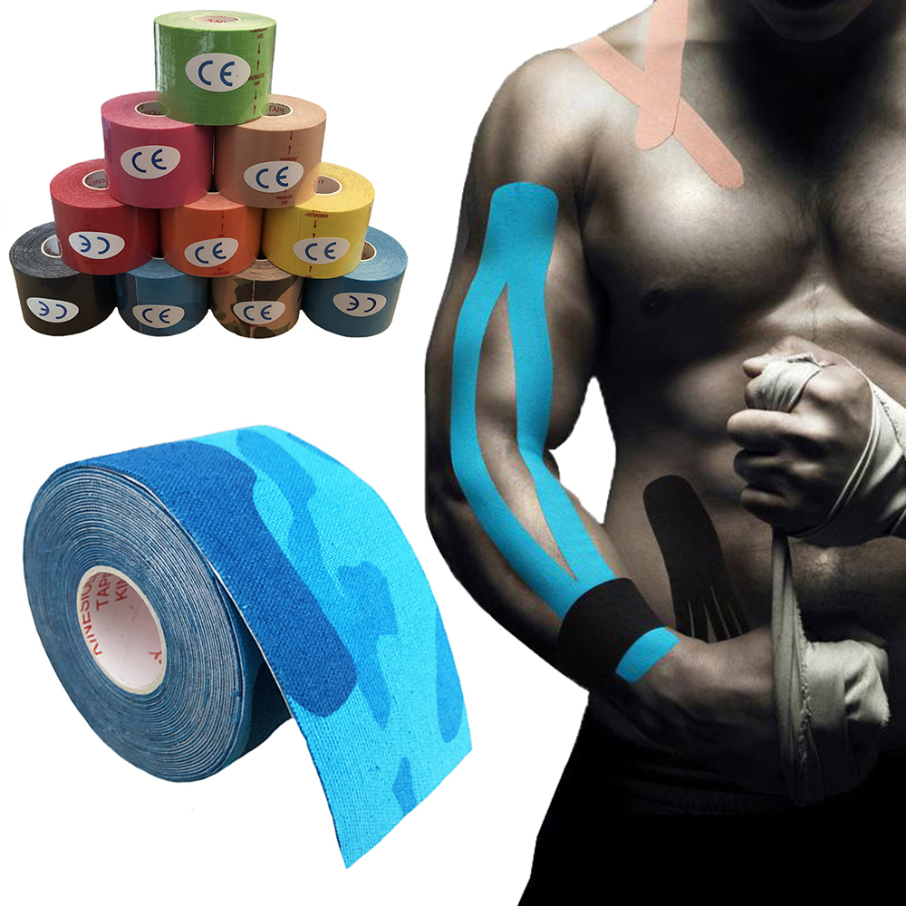 kneepad-fitness-elastic-kinesiology-tape-5m-x-5cm-sports-roll-physio-muscle-strain-support-sport-tape-knee-brace 拷贝1