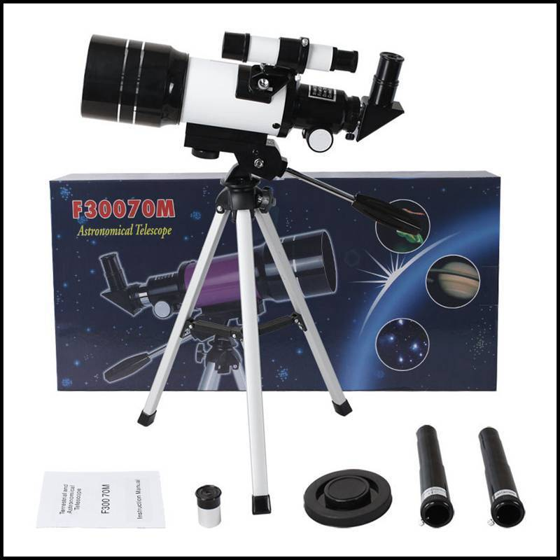 150X Professional Astronomical Monocular Telescope Refractive 300/70mm HD Spotting Scope Telescope with Tripod Kids Gift kid s gift entry level astronomical telescope with tripod for children