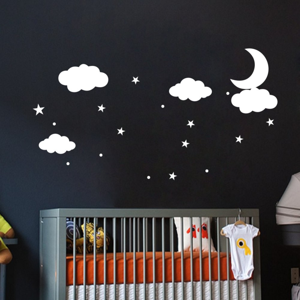 DIY Decorative Clouds Vinyl Wall Decals and Murals for Room Decoration