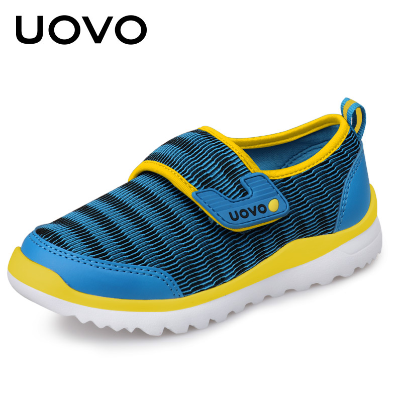 UOVO Spring Kids Shoes Mesh Breathable Children Sneakers For Girls and Boys Light-weight Casual Sport Shoes for Eur size 28#-37# children s shoes boys and girls ultralight casual sports shoes children fashion sneakers mesh fabric breathable travel shoes