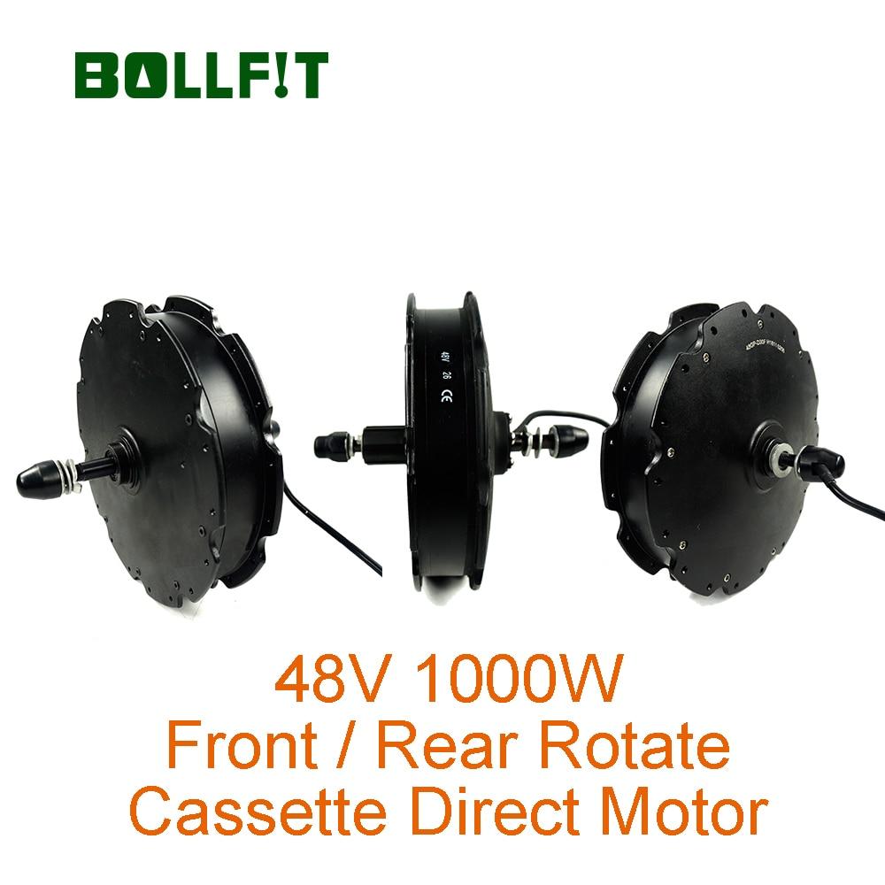 BOLLFIT 48V1000W Front Wheel Rear Rotate Motor Cassette Green Pedel MXUS  High Speed Brushless Direct Hub No Gear Motor
