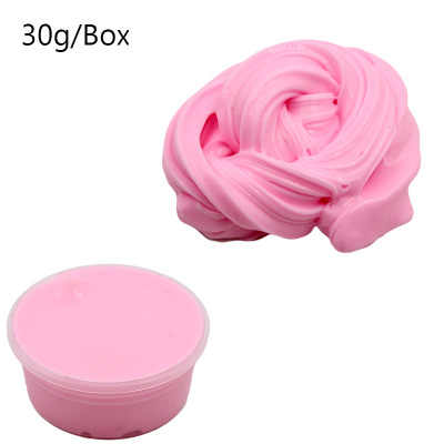 30/180g Fluffy Charms Slime Clay Foam Ball Four-color ball set DIY Soft blue Light plasticine Antistress Kids Toys for kid
