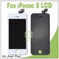 Touch Screen Digitizer LCD Display Assembly Replacement For Apple IPhone 5 5G Black and White Top Quality 100% Tested