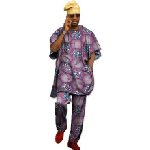 Custom festival africa clothing men new print tops+trousers african clothes for short sleeve tops and pant set