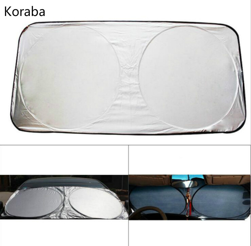 150 x 70cm Car Sunshade Sun shade Front Rear Window Film Windshield Visor Cover UV Protect Reflector Car-styling High Quality скатерть дорожка глория рюшаль