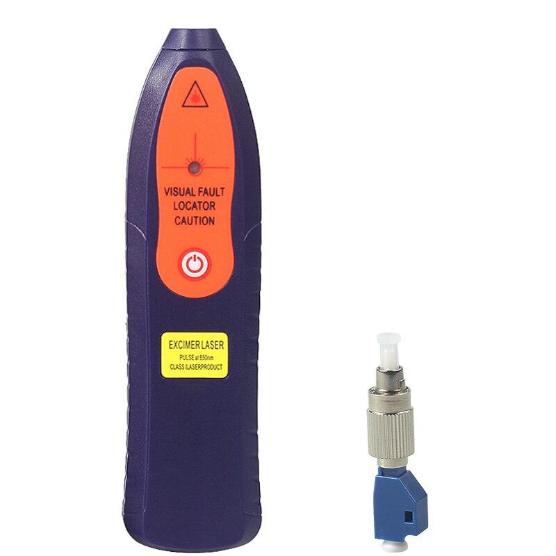 10Km Plastics Red Laser Light Fiber Optic Cable Tester SC/FC/ST/LC Visual Fault Locator Checker