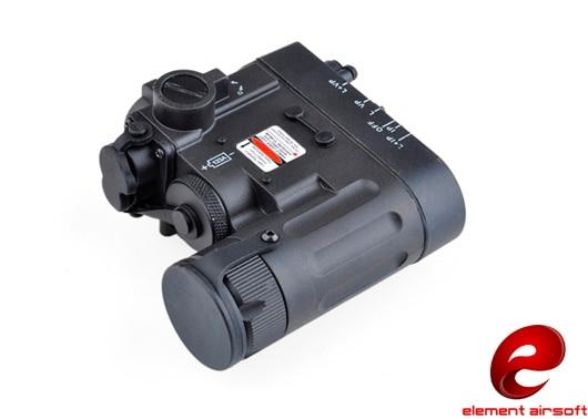 PILOTAIRSOFT Element DBAL-EMkII red laser multifunction laser IR LED Tactical flashlight battery box EX328 battery case (BK)