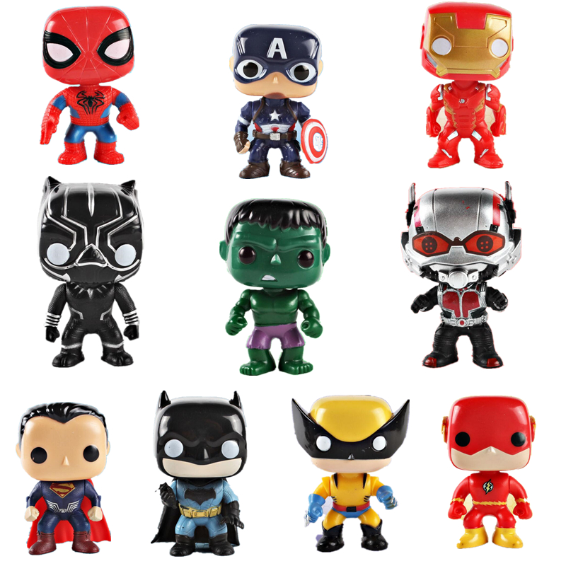10Pcs /set Avengers 3 10cm Action Figure Model Toy Set Super Hero Characters Model Vinyl Doll Figures Collectible Model