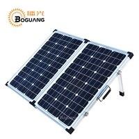 Xinpuguang 120 Вт 18 В Панели солнечные складная коробка Алюминий Стекло монокристаллического силиконовая сотовых 10A 12 В 24 В контроллер открытый за