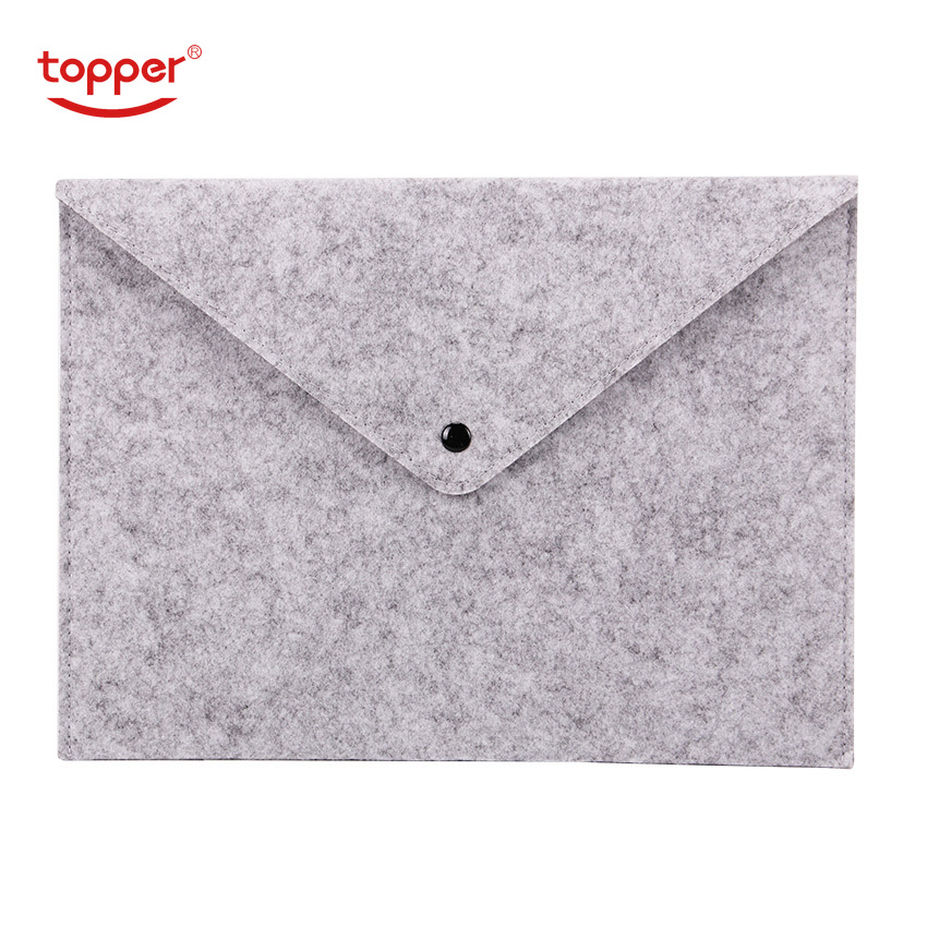 1PCS Simple Solid A4 Big Capacity Document Bag Business Briefcase File Folders Chemical Felt Filing Products Student Gifts