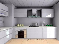 High gloss/lacquer kitchen cabinet mordern(LH LA023)
