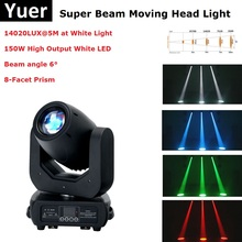 Super Beam Moving Head 150W White LED Party Light DMX Spot Christmas Projectors Disco