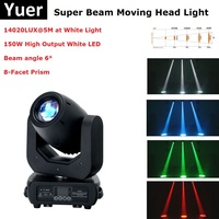 Super Beam Moving Head 150W White LED Moving Head Beam Party Light DMX LED Spot Christmas Light Projectors Disco Light Moving