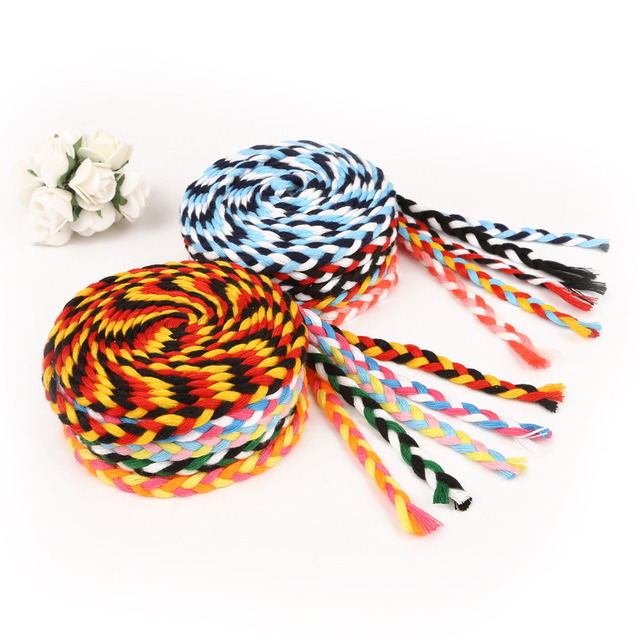 US $1 5 25% OFF 5 Meters Length 7mm Colored Polyester Cords Braided Rope  Diy Black White Thick Decorative Rope Twine Gift Box Decor Craft -in Cords