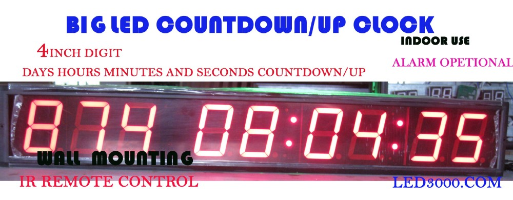 Odpočítávací hodiny 4 palce, hodiny, minuty a sekundy (HIT9-4R)