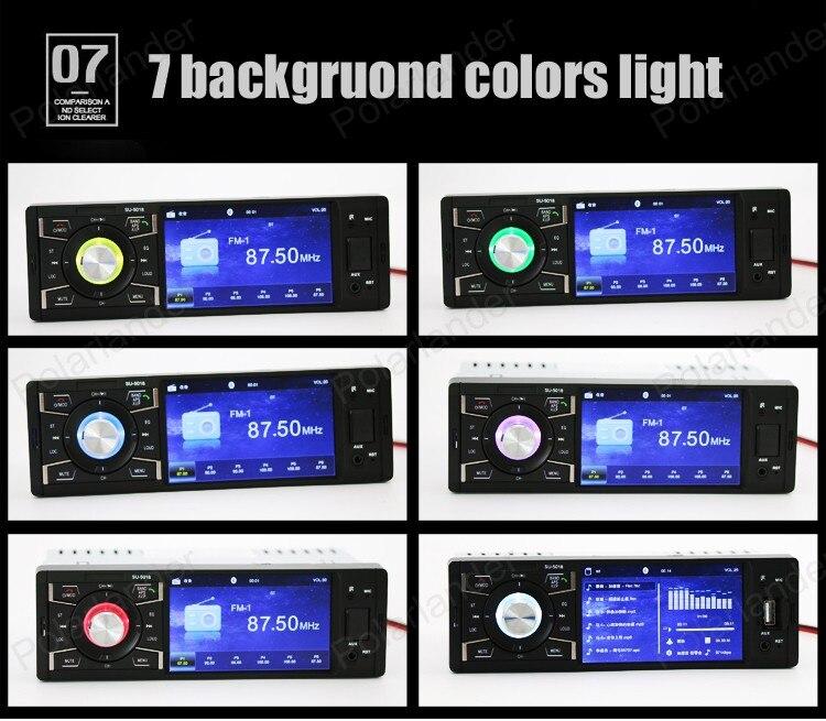 4 pouces 1 din support Bluetooth/FM USB/SD AUX autoradio lecteur vidéo stéréo HD écran mp5