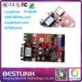 Оптовая Longgreat СВЕТОДИОДНЫЙ контроллер карты TF-S6UR USB + ПОСЛЕДОВАТЕЛЬНЫЙ порт карты контроля одного цвета поддержка 32*640 пикселей для p10 светодиодная вывеска