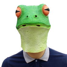 frog salmon Funny Latex Unisex Movie Cosplay Anime costume Prop Adult Animal Party Mask for Halloween